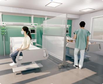 Pantallas de protección de seguridad - Hospitales y Clinicas
